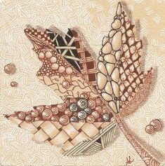 Autumn leaf - Zentangle