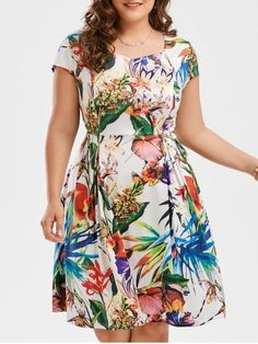 GET $50 NOW | Join RoseGal: Get YOUR $50 NOW!https://www.rosegal.com/plus-size-dresses/plus-size-leaf-floral-print-sweetheart-dress-1870268.html?seid=7697589rg1870268
