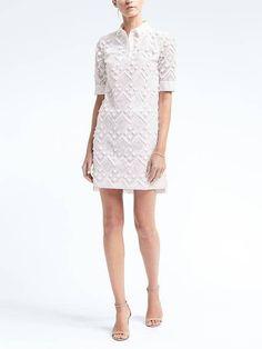 985932cf29ba Banana Republic Womens Embroidered Fringe Polo Dress Elegant Dresses