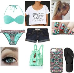 """""""Beach Day ∞"""" by juliahasswag ❤ liked on Polyvore"""