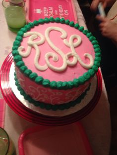 Monogram Birthday Cake  Thats So Me Pinterest Monogram - Monogram birthday cakes