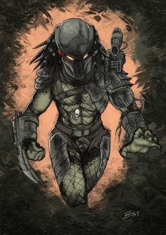 Predator Doodle by BESTrrr on DeviantArt