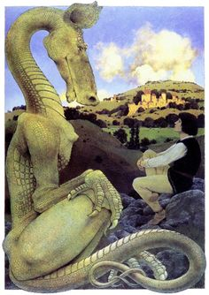 """THE RELUCTANT DRAGON"" Artist: Maxfield Parrish"