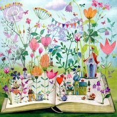 Lectura de primavera (ilustración de Mila Marquis)