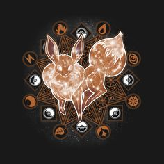 96265099f Shop Starry Sky of Evolution eevee t-shirts designed by ChocolateRaisinFury  as well as other eevee merchandise at TeePublic.