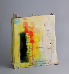 Slab Vessel with Orange and Yellow - Barry Stedman
