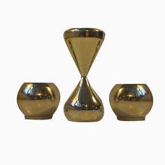 Vergoldete Kerzenständer von Hugo Asmussen, 1960er, 3er Set Jetzt bestellen unter: https://moebel.ladendirekt.de/dekoration/kerzen-und-kerzenstaender/kerzenstaender/?uid=9ca9d57e-a942-544a-a5af-c9369641349d&utm_source=pinterest&utm_medium=pin&utm_campaign=boards #kerzen #kerzenstaender #dekoration
