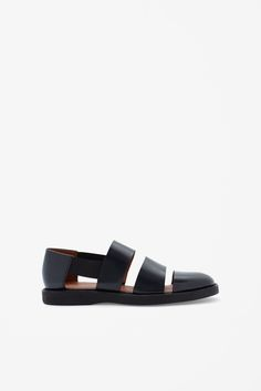COS Polished leather sandals