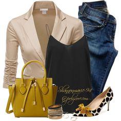 """Blazer, Heels & Jeans"" by shannonmarie-94 on Polyvore"