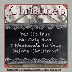 Don't stress! Shop from home.  Http://stores.ebay.com/christines-silver-and-more