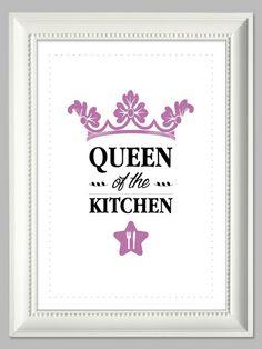 """""""Queen Of The Kitchen""""   Kunstdruck A4 von farbflut - ArtPrints auf DaWanda.com"""