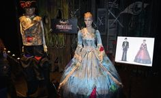 Halloween Horror Nights 2014 - MASKerade: Unstitched / At first glance, this may seem like a normal ballroom, but guests will be terrified when they see human heads inside oversized candles, appendages dangling in the streets and human faces ripped right from skulls with bloody remains still intact.