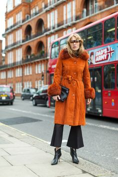 Chelsea Girls: London Street Style || Potters Clay - that is your color gals!!