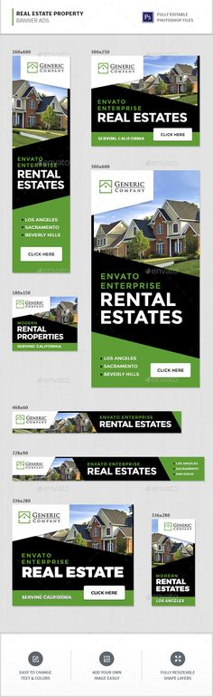 Real Estate Property Banner Ads — Photoshop PSD #realtor #banner designs • Available here → https://graphicriver.net/item/real-estate-property-banner-ads/16300008?ref=pxcr