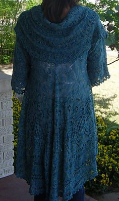 Pi Shawl with sleeves -- what a great idea! by Carla Willingham