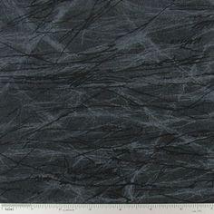 Black Cracked Ice Cotton Calico Fabric