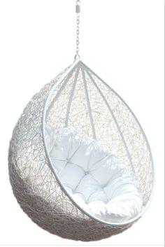 teardrop hanging chair- I LOVE IT!!!!!!! written by Bella
