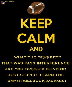 There is no keeping calm during football season!