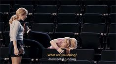 Pitch Perfect Quote (About horizontal running gym running gif funny exercise) Pitch Perfect 2012, Perfect Gif, Funny Movies, Great Movies, The Hit Girls, Haha Funny, Hilarious, Funny Stuff, Funny Things