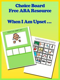 Teach your child to manage stress and keep their body calm with our visual choice board. Pair it with our visual social story for behaviour management. #Aba #Resources #Autism #LifeSkills #SpecialNeeds #ABAresources #AutismEducation