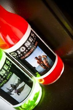 guest favors - personalized jones sodas Jones Soda, Honest Tea, Favours, Lime, Apple, Bottle, Drinks, Wedding, Sodas