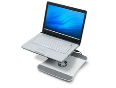 The Belkin Cooling Stand keeps your laptop cool. Powered by your laptop's USB port, the Cooling Stand adds no extra bulk and is easy to use.