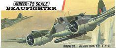 Bristol Beaufighter T.X, Airfix. Bristol Beaufighter, Airfix Models, Airfix Kits, Cross Art, Aviation Art, Old Models, Art Model, Plastic Models, Box Art