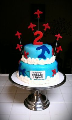I like the planes coming out of it Baby 1st Birthday, 1st Birthday Parties, Birthday Ideas, Airplane Birthday Cakes, Kid Cakes, Torte Cake, Party Time, Kid Stuff, First Birthdays