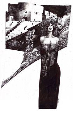 Sergio Toppi #fumetti #disegno #arte
