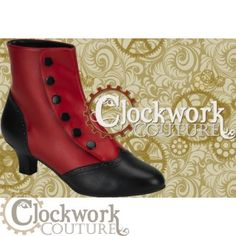 These would look super cute with the red and black wedding dress....54.00