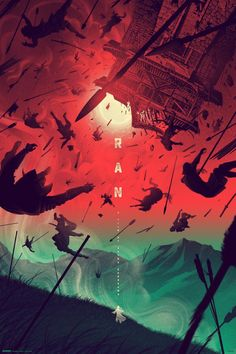 Kevin Tong's Ran print brings Akira Kurosawa's last great masterpiece back to live in vivid beauty. Find out where you can get this poster.