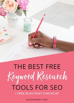 Can people find your blog posts? It is important to use good keywords that people are actually searching for. Check out the best free keyword research tools for improve your SEO or search image optimization.