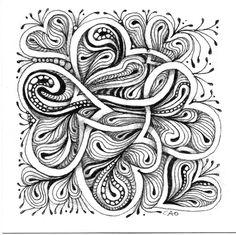 intertwined hearts zentangle