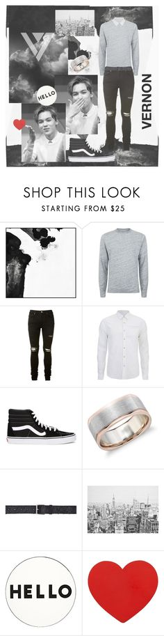 """""""B&W Vernon"""" by salmafernandez ❤ liked on Polyvore featuring PTM Images, Officine Générale, AMIRI, Scotch & Soda, Vans, Blue Nile, Comme des Garçons SHIRT, WALL, Lisa Perry and men's fashion"""