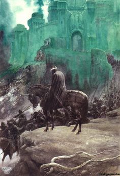 "Nazgul from ""The Lord of the Rings"" by J.R.R. Tolkien, artwork by Alan Lee (British, 1947-    )"