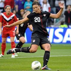 Two-time Olympic gold medalist and forward for the U.S. soccer team, Abby Wambach.