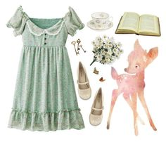 """I think i have lost once again"" by nymphetdream ❤ liked on Polyvore featuring Call it SPRING, Royal Albert, flower, nymphet and fawn"