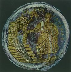 Raising of Lazarus, gold sandwich glass, Vatican Museum, 4th century