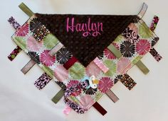 PERSONALIZED Large Ribbon Tag Sensory Blanket by firstcrushdesigns, $22.00