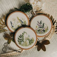 2,740 vind-ik-leuks, 17 reacties - Ellen Tyn (@liskin_dol) op Instagram: 'Come, Spring, come! Three embroidered meadows are available on foxychest.etsy.com Invite spring to…'