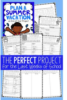 Looking for a fun way to review upper elementary math skills?  How about planning their dream vacation!