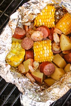 We love grilling up Cajun Style Grill Foil Packets. We can't get enough of the Cajun flavors with the grilled corn and sausage and shrimp, and there is NO MESS!