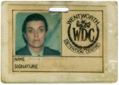 Prisoner, Id Badge, Tv Series, Names, Australia
