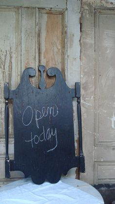 vintage / olde time sign / chalkboard / sign board/ open for business