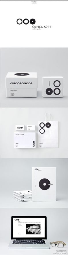CameraOff - Identity in black & white of photography studio Pavia | typography / graphic design  PD
