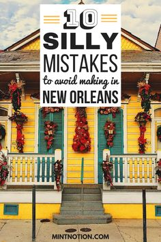 Visiting New Orleans for the first time? Avoid making these silly tourist mistakes. Use these tips to help you save money and enjoy NOLA on a budget. New Orleans Travel Guide, New Orleans Vacation, Visit New Orleans, New Orleans Louisiana, New Orleans Trip, New Orleans Voodoo, Hotels In New Orleans, New Orleans Kids, Halloween In New Orleans