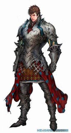 Handsome Blue Trimmed Steel Armored Warrior