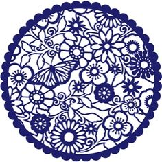Silhouette Design Store: butterfly lace circle Stencil Patterns, Stencil Art, Silhouette Cameo Projects, Silhouette Design, Silhouettes, Celtic Cross Stitch, Silhouette Online Store, Paper Lace, Creation Couture