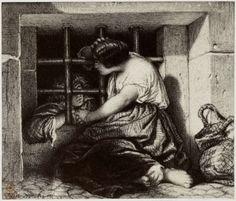 Robert Jefferson Bingham | Fotoreproductie van tekening door Paul Delaroche: le prisonnier, Robert Jefferson Bingham, Goupil & Cie, 1858 |