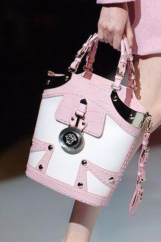 Women's Handbags & Bags : Versace Fashion Show Details - Fashion Inspire Fashion Handbags, Purses And Handbags, Fashion Bags, Coach Handbags, Women's Fashion, Latex Fashion, Beautiful Handbags, Beautiful Bags, Coach Purses